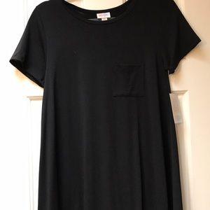 LuLaRoe Carly little black dress XS NWT
